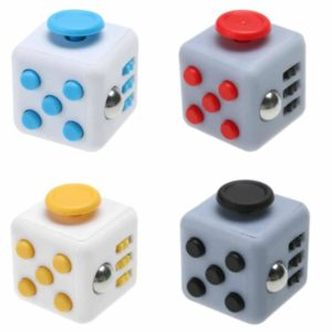 fidget cubes blue yellow red or black